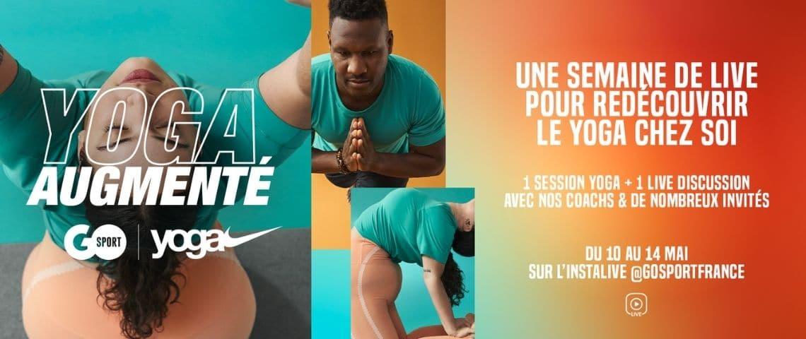 Affiche promotionnelle - Un homme et une femme qui font du yoga