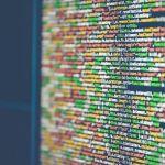 Codes informatique sur un écran d'ordinateur