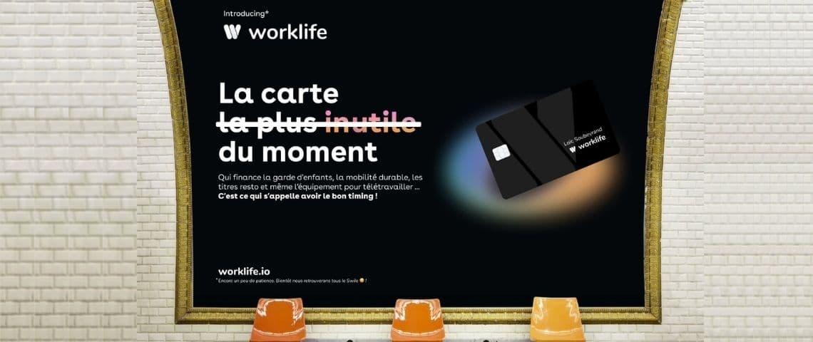 Campagne Worklife - Carte noire sur fond noir - « La carte la plus utile du moment »