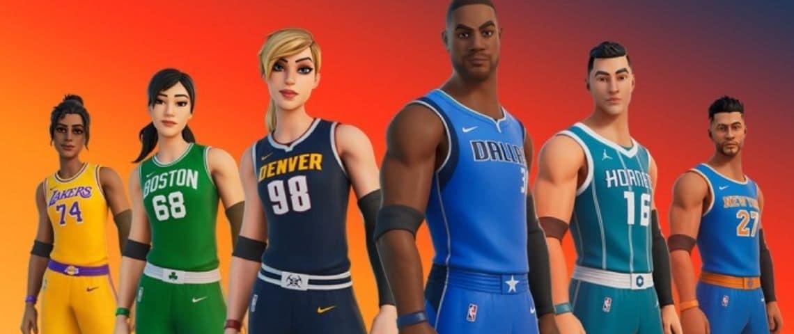 Avatars jeux vidéo qui portent des maillots de la NBA
