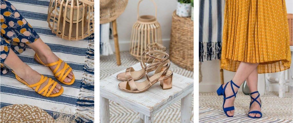 des sandales portées
