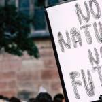 """Pancarte : """"No nature, no future"""""""