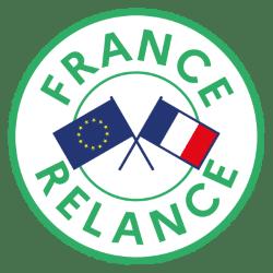 Logo France Relance avec les drapeaux francais et européen