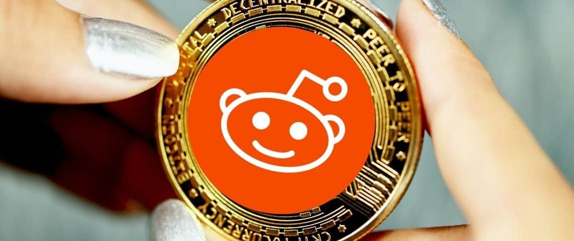 Montage d'une monnaie à l'effigie de Reddit