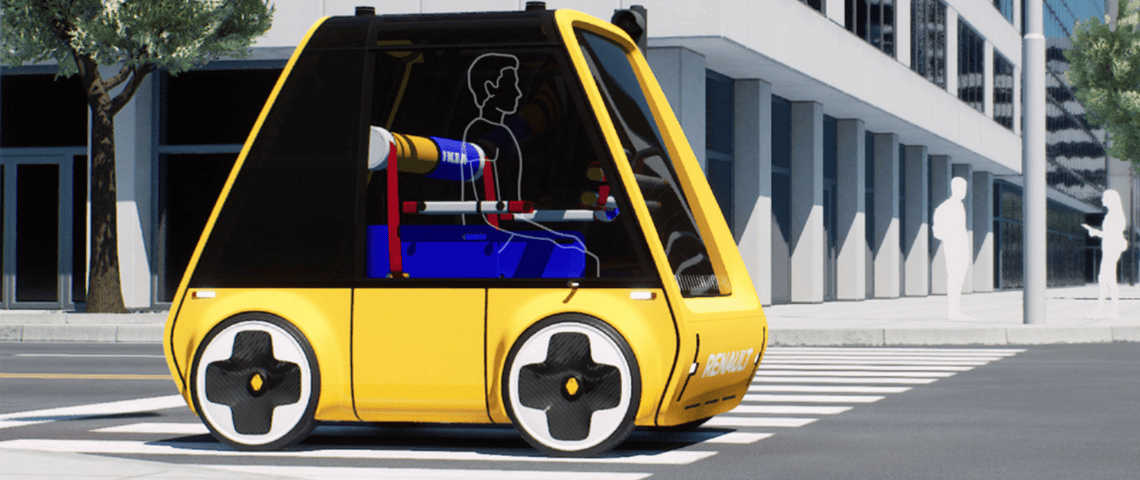 Höga, la nouvelle voiture électrique par IKEA