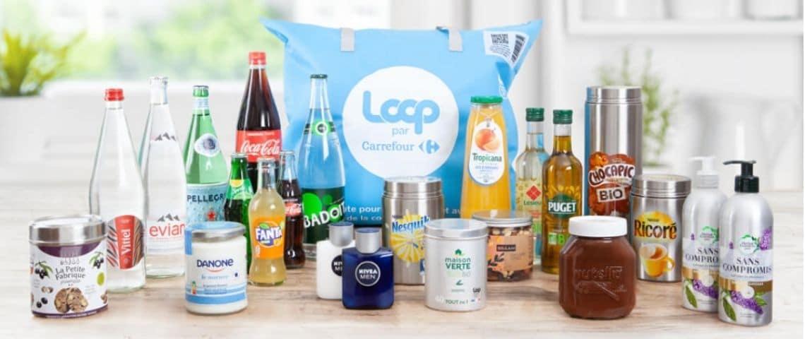 Sac de consigne Loop - emballages à recycler