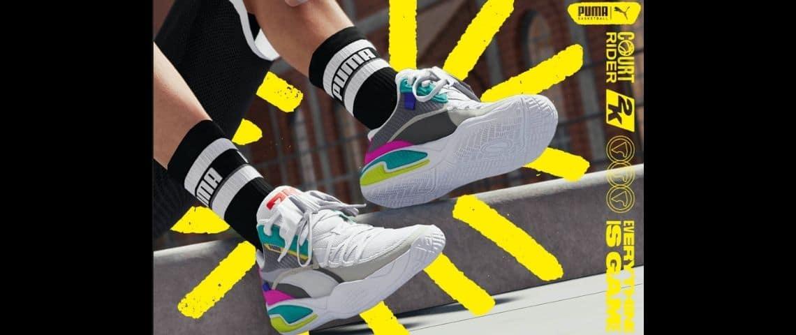 Des sneakers colorées