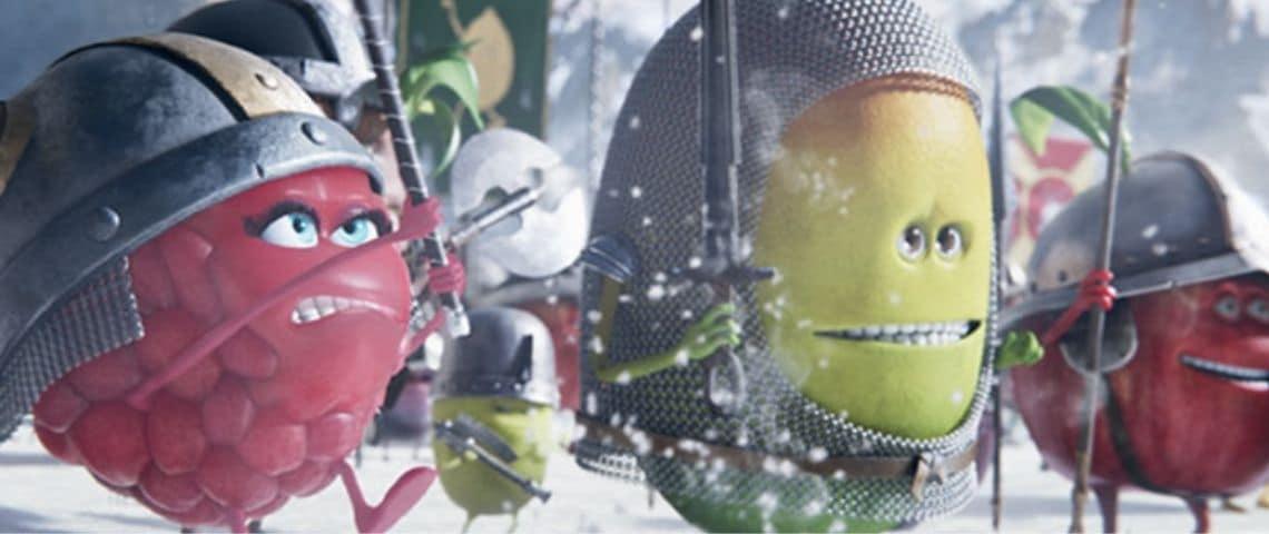 Des fruits animés en armure