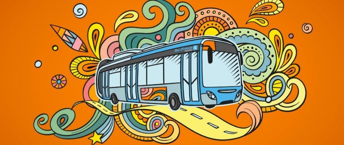 Un bus dessiné