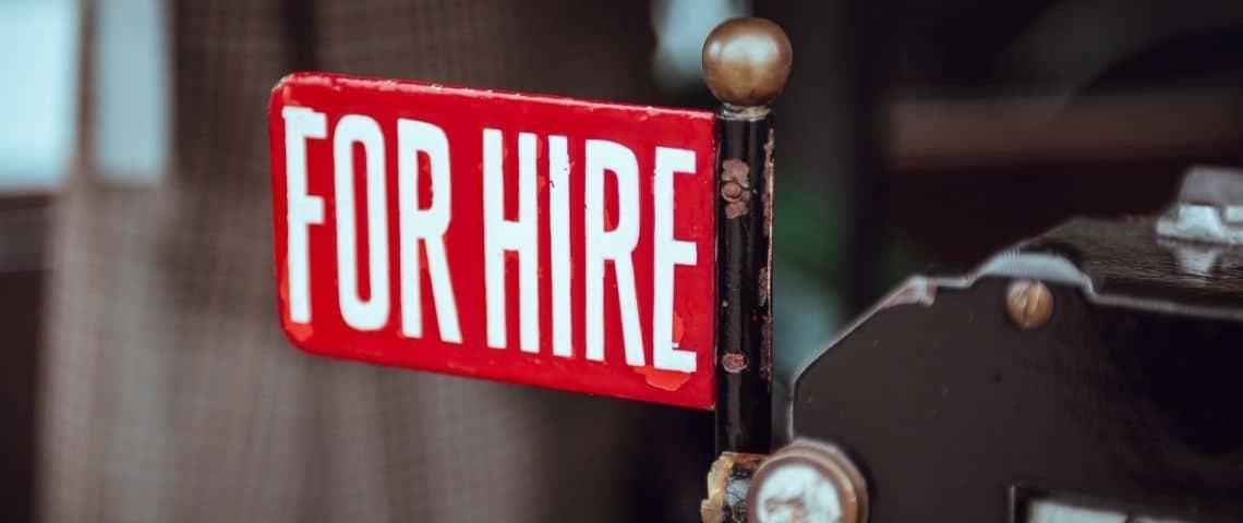 Un panneau  - For hire -