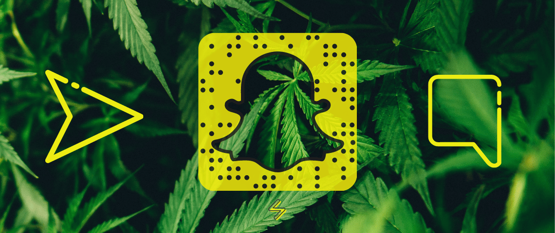 Logo Snapchat et Marijuana