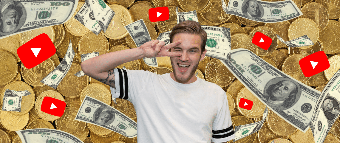PewDiePie et l'argent