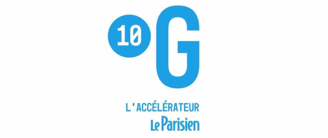 Logo bleu : 10G l'accélérateur le parisien