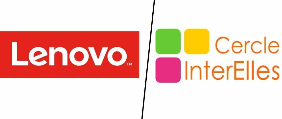 Logo Lenovo et Cercle InterElles