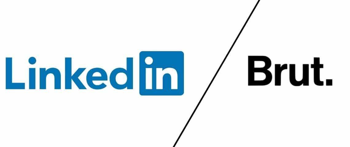 Logo Linkedin et Brut