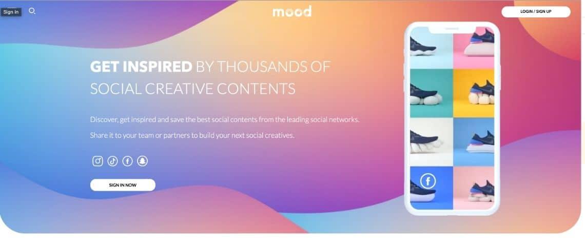 Capture de l'application Mozoo ! Mood