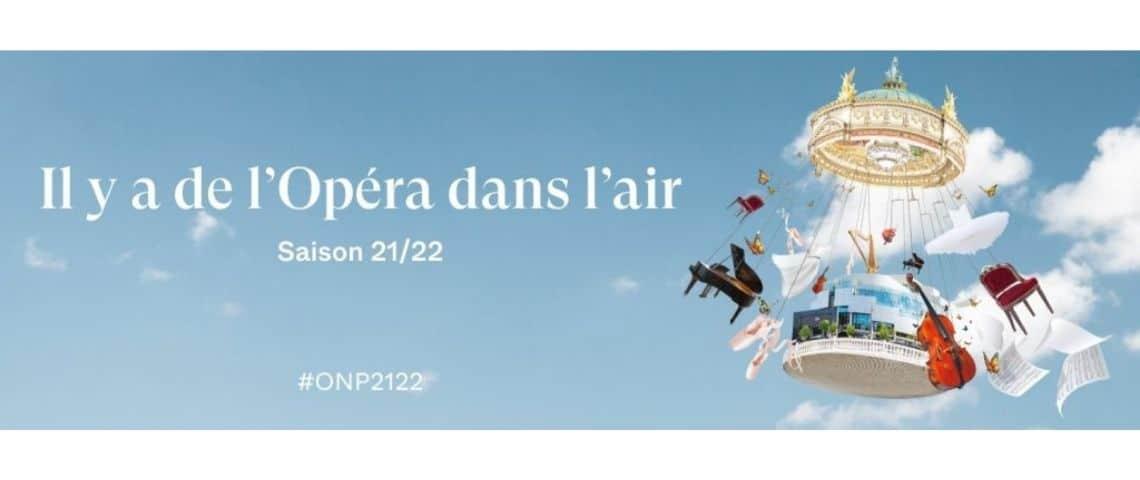 Affiche de la sainson 2021/2022 de l'Opéra National de Paris