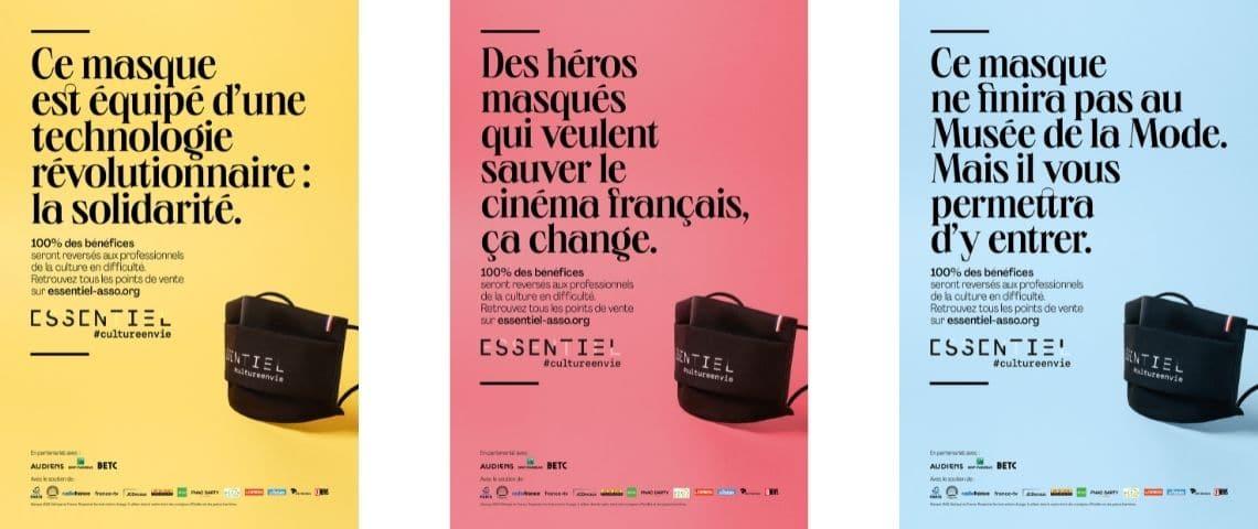 Affiches de la campagne #cultureenvie