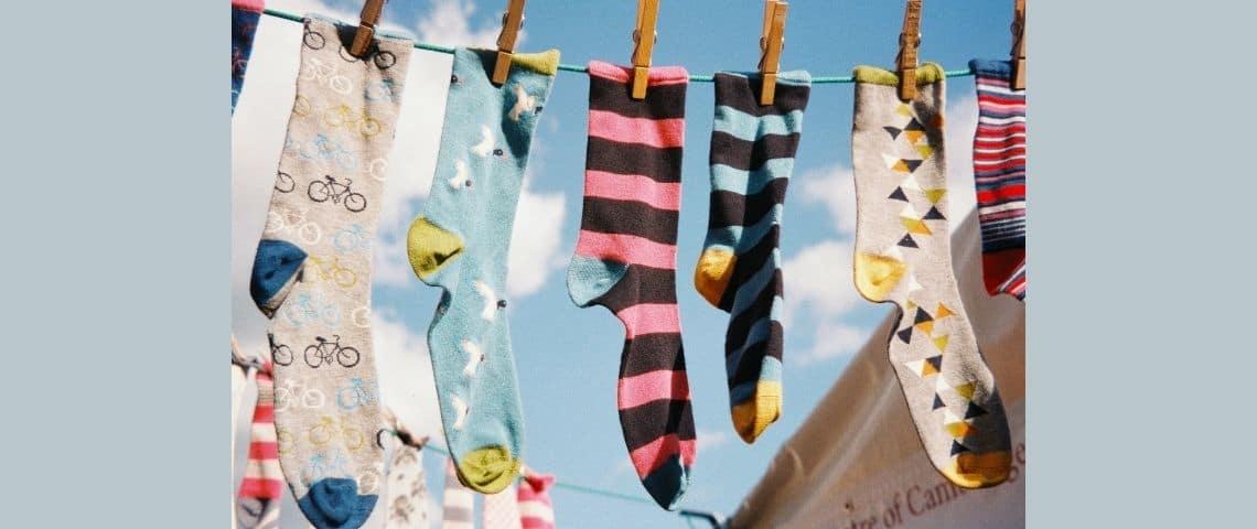 Des chaussettes qui sèchent