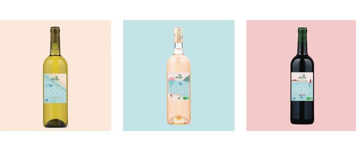 Des bouteilles de vin blanc, rosé et rouge