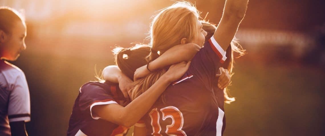 Une équipe de foot féminine