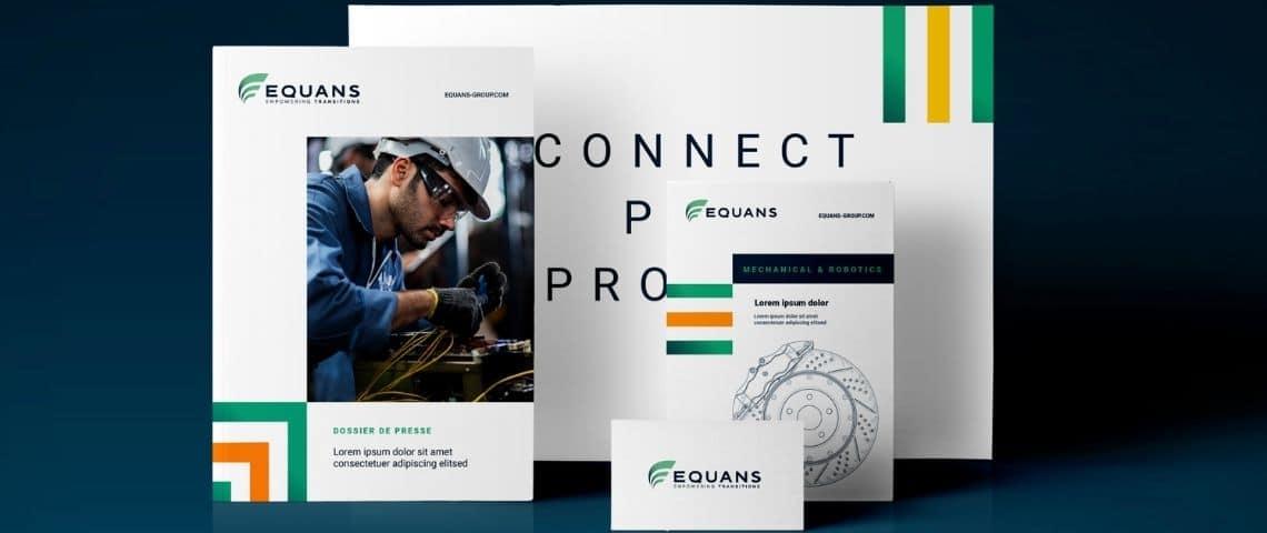 Support de communication Equans