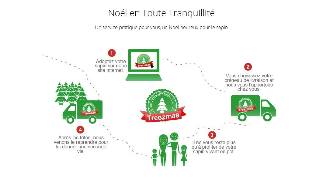 Treezmas propose un service pratique pour réutiliser les sapins