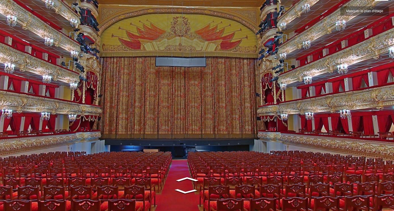 Le théâtre Bolchoi à Moscou