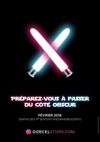 Dorcel fait la promo de ses sextoys phosphorescents avec Star Wars