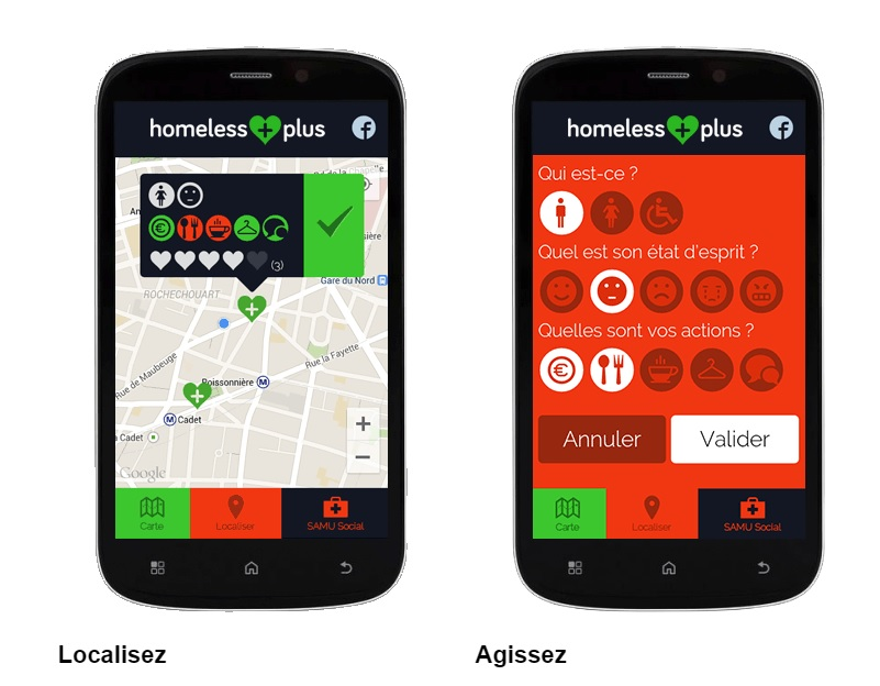 L'application Homeless plus