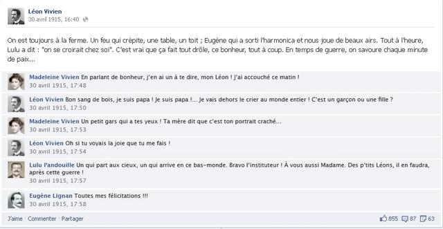 conversation de leon sur facebook